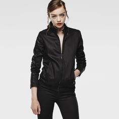 G-Star RAW | Women | Raw-for-the-oceans | Raw For The Oceans - Denim Bomber Jacket , Rfto Bl 02 Sp Dnm Sl