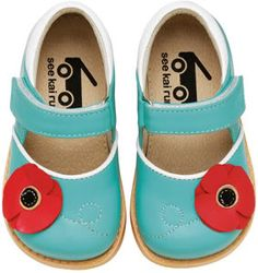 While we're all swooning over bright colorful handbags making their way into our closets of late, kids' shoes are definitely on the same path....