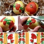 Easter Decoupage Technique – Gluing with Egg White