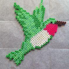 Hummingbird perler beads by Katie Binesh