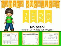 Number Knowledge: Number 0 (NO PREP!) from Wise Little Owls on TeachersNotebook.com -  (46 pages)  - These activities include everything you need to learn all about the number 0 for an entire week ! Perfect for toddlers, preschoolers, Pre-k, Kindergarten, PPCD, and Special Education.