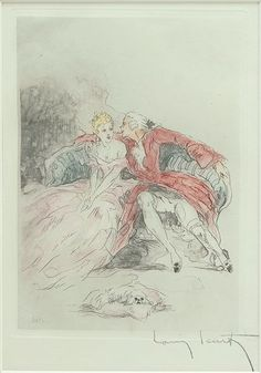 Louis Icart (French, 1888-1950) Two Lovers. Lot 152-6101