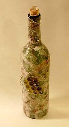 Decorated Wine Bottle
