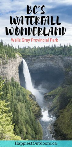 Find 8 amazing waterfalls in one small British Columbia park. Check out Helmcken Falls and 7 other waterfalls in Wells Gray Provincial Park near Kamloops BC in Canada. Quebec, Montreal, Canadian Travel, Canadian Rockies, British Columbia, Columbia Travel, Columbia Road, Columbia Falls, Travel Guides