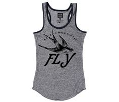 Love the retro feeling to this Why walk when you can fly T-shirt Tank. $30