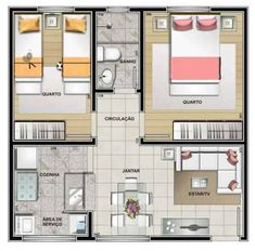 Little House Plans, Small House Plans, Classic House Design, Small House Design, House Layout Plans, House Layouts, Model House Plan, Apartment Floor Plans, Home Design Plans