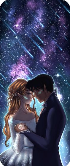 Rhysand and Feyre on Starfall by alexielapril. ACOMAF Sarah J Maas