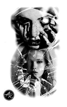 Ozzy Tattoo, Tattoed Women, Don't Fear The Reaper, Dark Portrait, Asian Tattoos, Graffiti Drawing, Tattoo Project, Arte Horror, Cover Up Tattoos