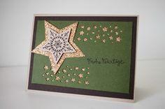 stampin up many merry stars sternenkonfetti stanze