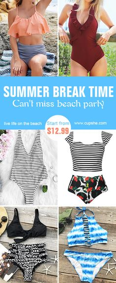 Celebrate the season with high quality Cupshe swimsuits. You will want to pull it out of your closet to next beach trip. You won't want to miss this.