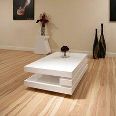 designer coffee tables UK: Coffee Table White Gloss Stunning Designer AG Studios…