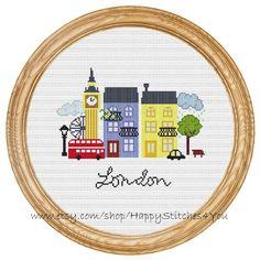 Cross Stitch Pattern PDF London DD0069 by HappyStitches4You