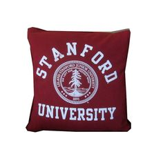 Recycled Tshirt Pillow - Stanford University throw pillow travel cushion