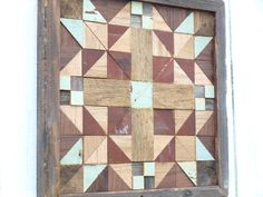 Barn Quilt Cottage Chic Block Rustic Wall Decor