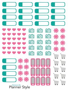 Planner Stickers  Cell Phone Stickers Camera by PlannerStyle