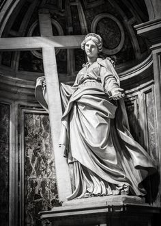 St. Helen Statue by Andrea Bolgi, 1635 in St. Peter's Basilica,Rome.