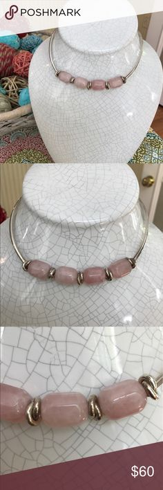 Silpada pink quartz necklace Beautiful retired Silpada choker. Sterling silver and rose quartz. I sold silpada years ago and this was part of my inventory. NEVER WORN. stamped silpada and .925. silpada Jewelry Necklaces