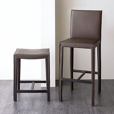 """Folio 24"""" Chocolate Leather Backless Counter Stool in Barstools 
