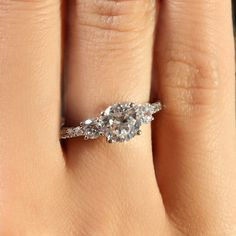 Barstow's Three Stone Engagement Ring. Much more realistic :D