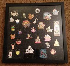 Pin Shadow Box Disney DIY   Disney Pin Display Case - great way to display and enjoy all those Disney Pins!