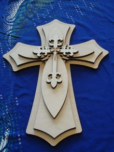 Unfinished Wood Cross Layered Wooden Crosses Stacked Cut Out