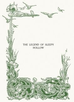 Margaret Armstrong, half title page from The Legend of Sleepy Hollow, by Washington Irving, New York, 1899.