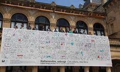 """Abiapuntuak: proyecto que el equipo de BreakingMolds ha realizado para la capitalidad europea de la cultura de 2016 que tendrá lugar en San Sebastián.  Abiapuntuak es como han llamado al proyecto en el que el cliente les pidió """"una propuesta cálida y que representase el sentir de la ciudadanía"""" (muy concretos ellos también...).  Trabajaron con la idea de que la diversidad es uno de los grandes tesoros de las ciudades y éstas a su vez son puntos de encuentro entre diferentes realidades."""