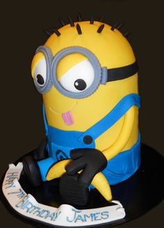 3D Minion Birthday Cake - by Nada's Cakes Canberra