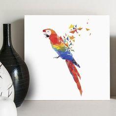 quadro decorativo arara colors