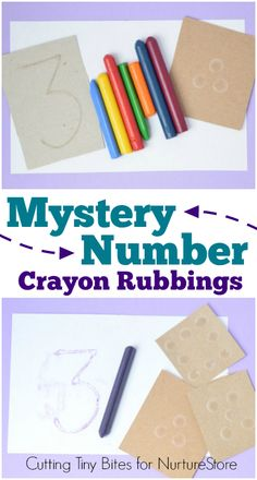 Mystery Number Crayon Rubbings