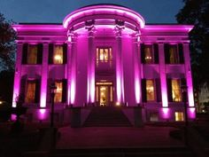 The Mississippi Governors mansion lighted in pink for breast cancer awareness.  How pretty is that?!