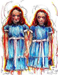 Print 11x14  The Grady Twins  The Shining Horror by chuckhodi, $14.00