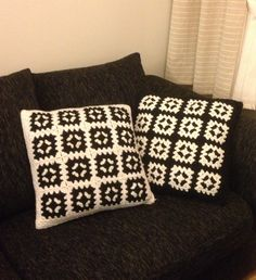 Crochet Granny Square Pillows