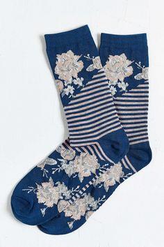Split Floral Sock