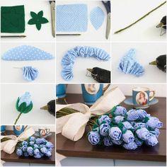 DIY How to make beautiful fabric roses
