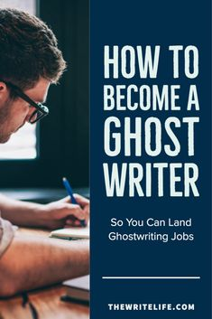 How to Become a Ghostwriter, So You Can Find Ghostwriting Jobs Memoir Writing, Article Writing, Writing Advice, Writing A Book, Fiction Writing, Writing Workshop, Writer Tips, Book Writer, Writing Strategies
