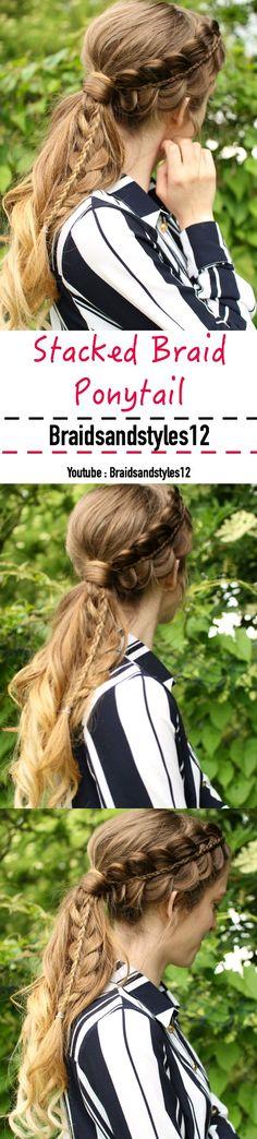 Braided Ponytail Hairstyles / Ponytail Hairstyles by Braidsandstyles12.  Tutorial : https://www.youtube.com/watch?v=HfjJLu586yQ
