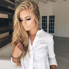 See this Instagram photo by /jessakae/ • beauty, makeup, hair, blonde hair, beach waves, wavy blonde hair