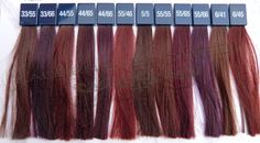 wella colour touch vibrant reds chart - Google Search