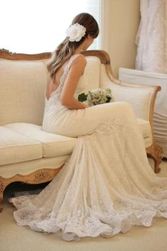 Pinspire - Alexa Adams's pin:although she's sitting down, i can say that's probably the most beautiful wedding dress i've ever seen..