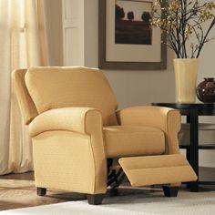 Natuzzi Cream Italian Leather Manual Recliner Chair