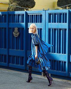 Irene Kim, Sexy Boots, Feminism, Fashion Beauty, Punk, Celebrities, Coat, How To Wear, Blue