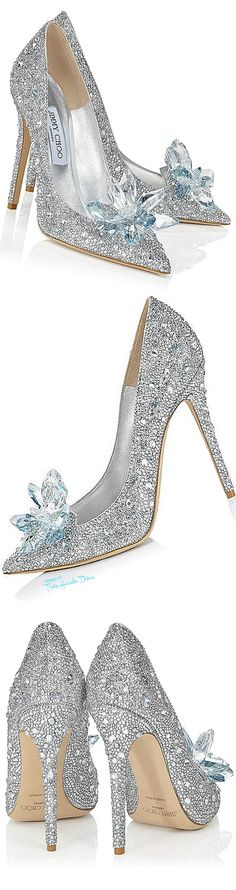 Jimmy Choo 'Cinderella' ♔nyrockphotogirl ♔ #Choo #luxury #shoes #cinderella #wedding #bridal #sequins #heels