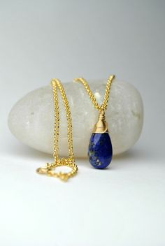 Excited to share the latest addition to my #etsy shop: Lapis Lazuli Necklace 14K Gold Filled Small Lapis Necklace Gold Dainty Gemstone Necklace Blue Lapis Pendant Lapis Jewelry Gift For Women #jewelry #necklace #teardrop #lapislazuli #lapisgoldnecklace #lapislazulipendant