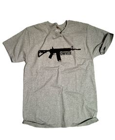 The ORIGINAL AR-15 Owner shirt from Red White Blue Apparel.  Show your patriotic spirit for America supporting the 2nd Amendment and our gun rights.  This Gun Owner shirt supports the most popular rifle in America!