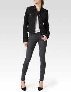 Paige Denim Womens Vermont Jacket   Vintage Black   Size XS