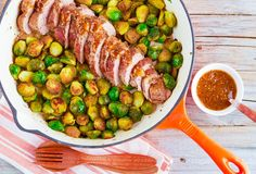 Pork Tenderloin with Roasted Brussels Sprouts - Hello HealthyHello Healthy
