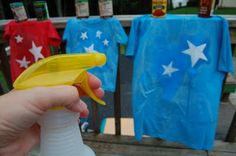 4th of july t-shirts - looks like fun  Doing this today!!!