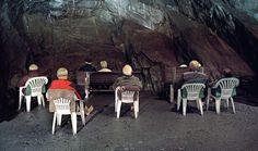 Alexander Krack German Spa Towns - VICE, What exactly are all these people doing sitting down and looking at the wall in that cave? They are sitting in an adit. Within the adit is a micro climate that keeps a constant temperature of 8 degrees Celsius throughout the whole year. Humidity is at nearly 100 percent and the air is almost completely free of dust particles, germs and allergenic pollen. Therefore the air is supposedly really good for your lungs. Also theres is a spring inside the…