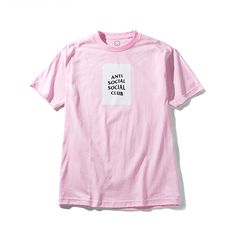 Anti social social club box tee logo in pink